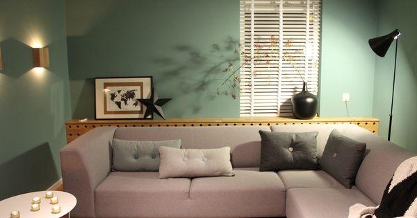 Eigen Huis en Tuin  Praxis Een licht groenblauwe muur