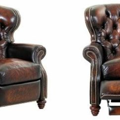 Queen Anne Wing Chair Leather Pottery Barn Wingback Recliner | Arthur Chesterfield Button Tufted Reclining Arm ...