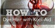 easily dye hair with kool-aid