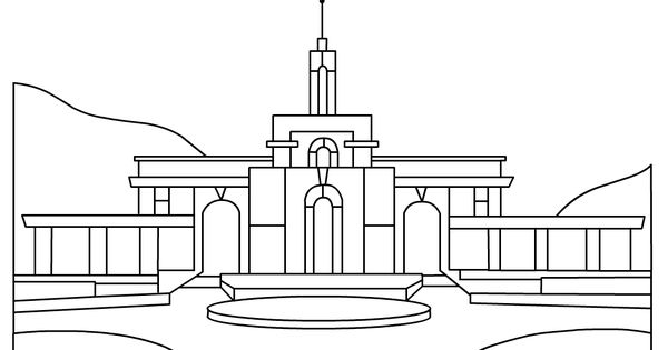 Temple coloring page..cute idea for FHE lesson about