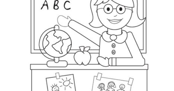 World's Best Teacher Coloring Page from TwistyNoodle.com