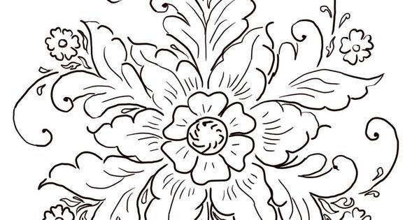 Hand Clipart Coloring Page