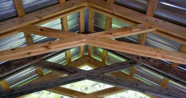 mortise and tenon scissor truss  Ideas for the property  Pinterest  Mortise and tenon