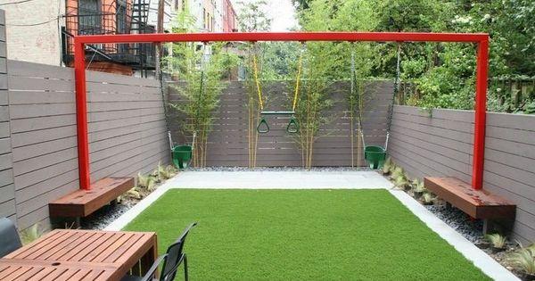 Small Garden Backyard Playground Children Garden Pinterest