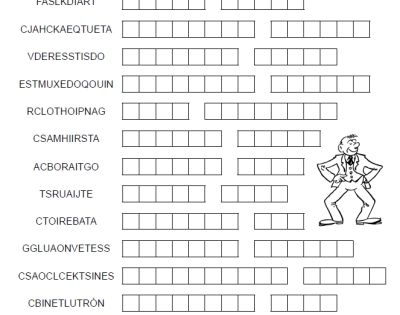 La Ropa Word Merge FREE printable Spanish puzzle worksheet
