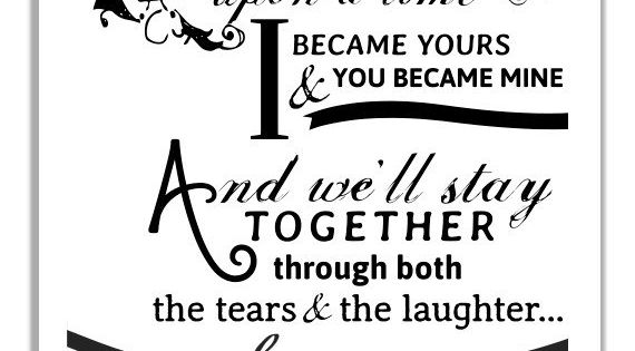 Happily Ever After Typographic Print For Newlyweds And