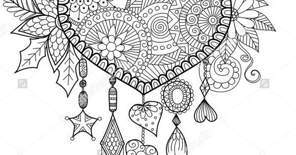 Heart shaped floral dreamcatcher  Shutterstock