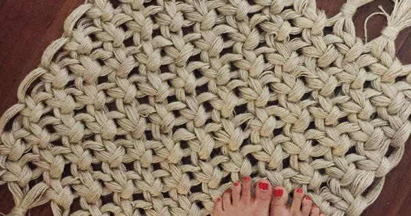 Macrame RUG How simple would making this blanketsized be  Crafting Intensity  makrame