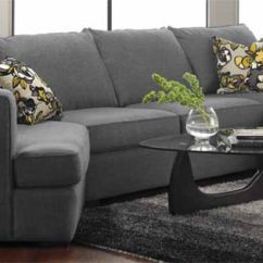 Gray Fabric Sofa Chair Full Bed Decor-rest Double Chaise Sofa. A Great Combo Of Cuddler ...