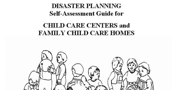 Disaster Planning Self-Assessment Guide for Child Care