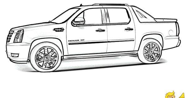 Cadillac Escalade SUV Coloring Sheets To Print At