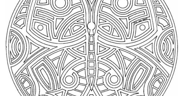 Vlinder Mandala Kleurplatencoloring Pages Pinterest