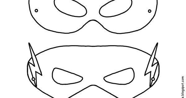 Superhero activities: FREE superhero masks to color