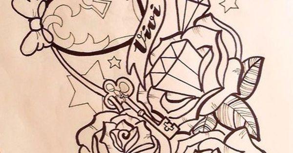 Girly Anchor Tattoos girly anchor tattoo drawings