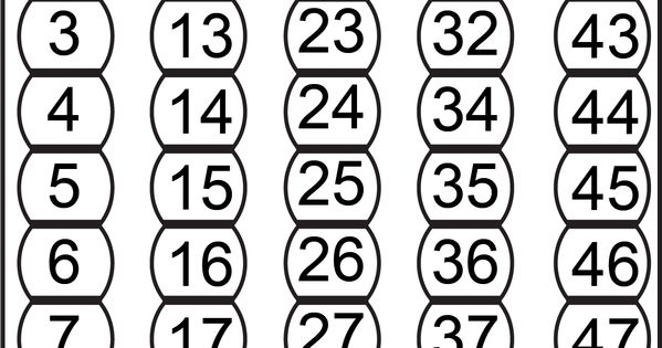 Number Chart 1-50