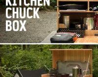 How to Build Your Own Camp Kitchen Chuck Box | Camping ...
