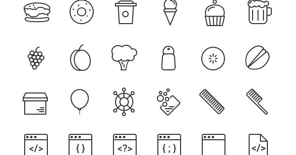 Free Download : RetinaIcon 300 Free Icons ( following