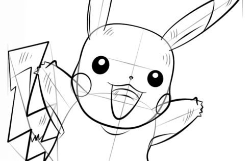 How to draw Pikachu Pokémon step by step. Drawing