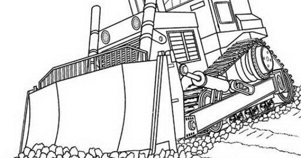 Coloring Pages Construction Truck Free Bulldozer Page