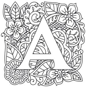 Craft delicate charm with this mehndi style letter
