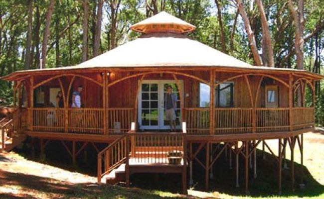 Pavilion Bamboo House Alternative For Green Home Plans