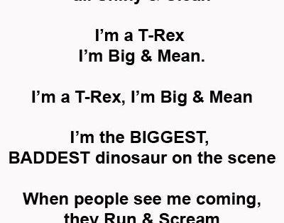 I'm a T-REX dinosaur song for preschool kids who love