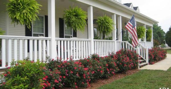 front porch landscape porches