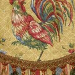 Rooster Kitchen Decor Best Paint Custom Valance French Country Waverly Fabric Gold Red ...