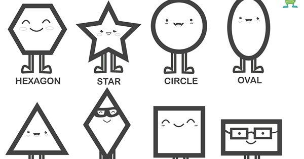 Formas geométricas en inglés. Free printable geometric