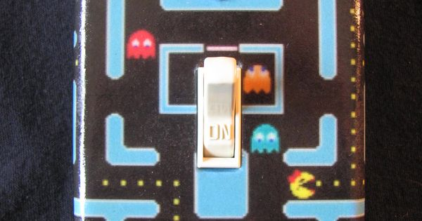 Atari Ms Pacman Light Switch Cover  Game rooms Video game quotes and Gaming rooms