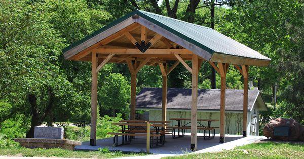 Small Rustic Pavilion Shelter Wwwsandcreekpostandbeamcom