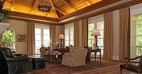 Add elegance to an indoor vaulted ceiling with soffit ...