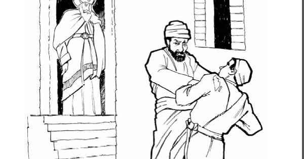 The Parable of the Evil Servant- coloring page, audio