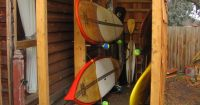 kayak storage, saw this on a paddling forum years ago and ...