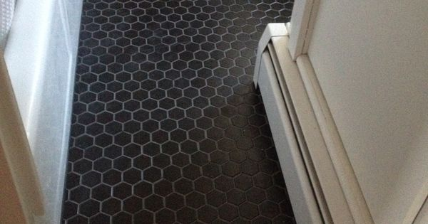 matte black tile with charcoal grout  Thayer  Reed   Pinteres