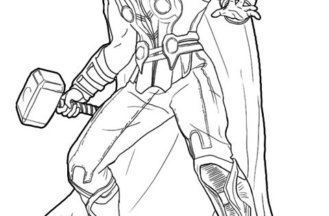 A new coloring page of Thor Odinson! #Thor #ThorDarkWorld