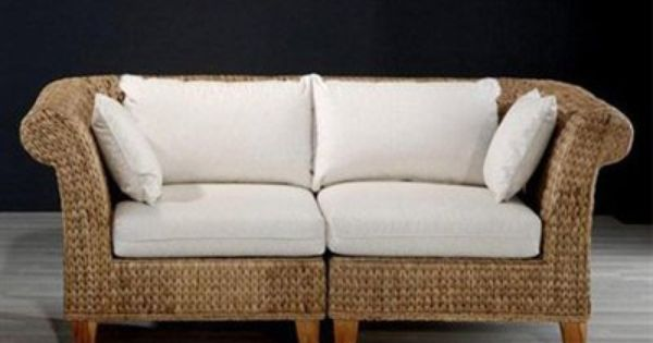 Hospitality Seagrass Furniture Hospitality Rattan 2 PC SET 414 LS Seagrass Indoor Loveseat