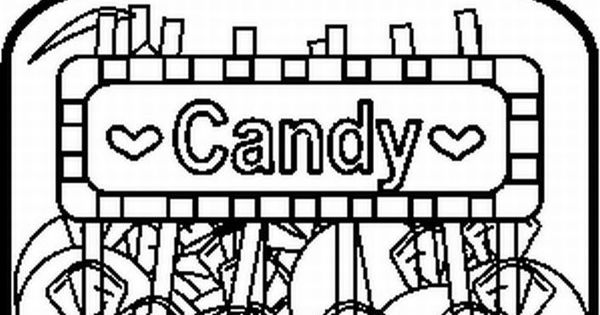 Candy jars, Coloring pages and Coloring on Pinterest