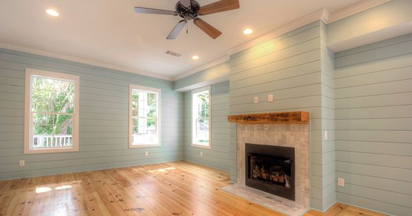 decorating living room walls with family photos how to stage a heart pine flooring, not shiplap/ nickel ...
