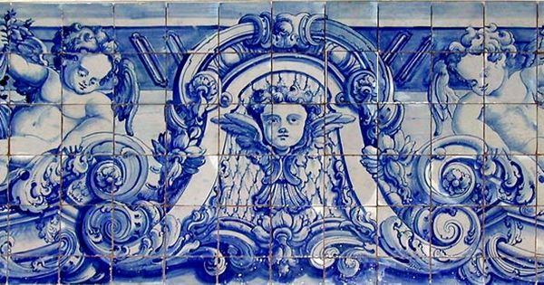 Portuguese 18th Century Blue Amp White Ceramic Tile Mural