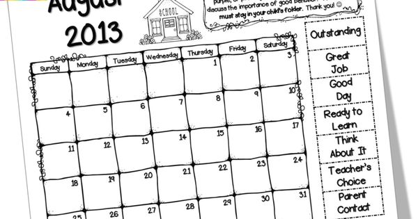 Teaching With Love and Laughter: Free Clip Chart Calendars