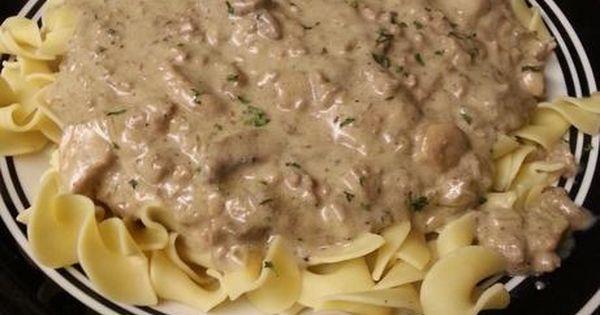 beef stroganoff recipe and