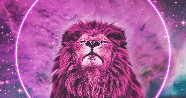 P Name Cute Wallpaper Psychedelic Pink Lion Art Lions Pinterest Lion