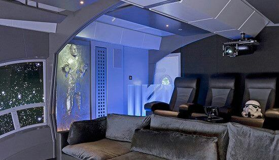 Star Wars themed home theater  Imgur  Men cave Room and
