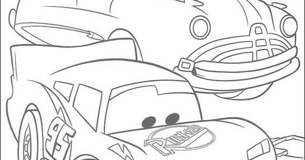 Disney Cars : Lightning Mcqueen Coloring Pages