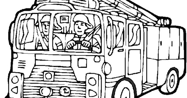 www.preschoolcoloringbook.com / Fire Safety Coloring Page
