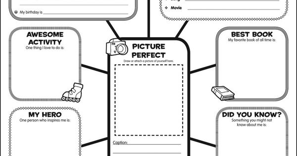 Graphic Organizer Posters: All-About-Me Web: Grades 3-6