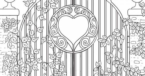 Freebie Garden Gate Coloring Page Craft Gossip