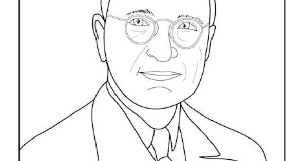 Harry truman, Colouring pages and Coloring pages on Pinterest
