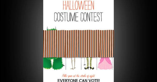 Halloween Costume Contest Announcement Printable By